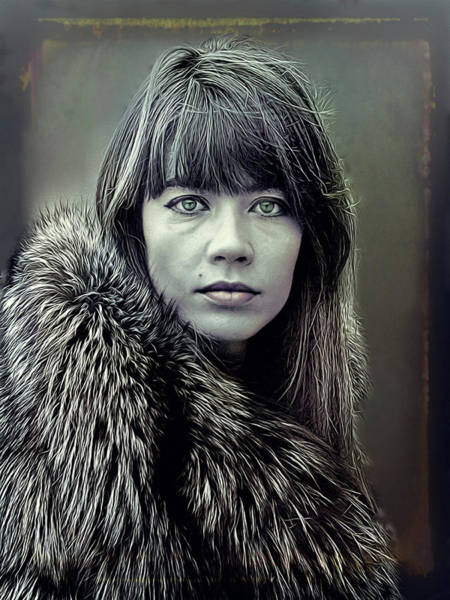 Wall Art - Mixed Media - Francoise Hardy  by Mal Bray