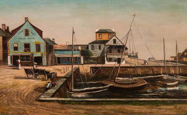 Wall Art - Painting - Frank Henry Shapleigh American  1842-1906 St. Augustine Yacht Club At Plaza Basin  St. Augustine, F by Celestial Images
