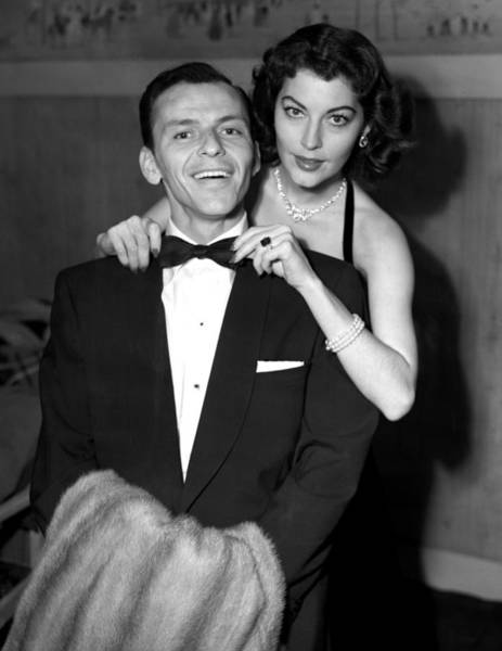 Wife Photograph - Frank Sinatra And His Wife by Pa Images