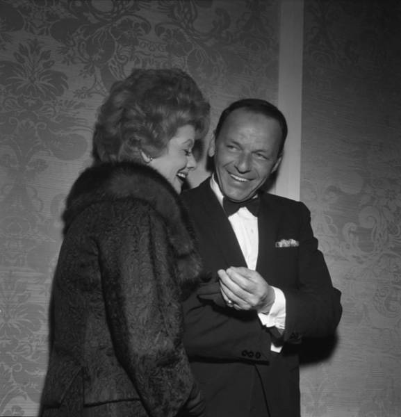 Frank Sinatra And Lucille Ball Art Print by Michael Ochs Archives