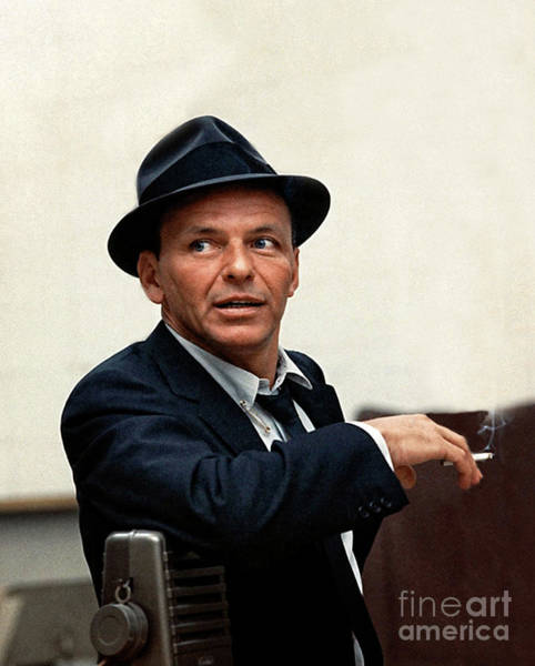 Frank Sinatra At Capitol Records, 1953 Art Print