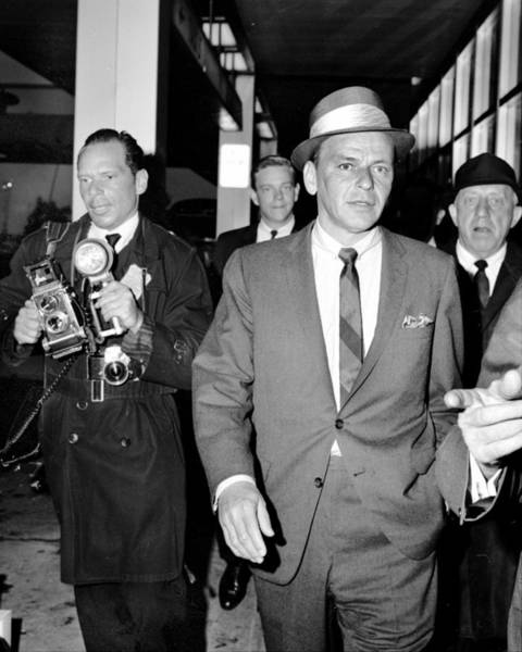 Photograph - Frank Sinatra At Jfk Airport As He by New York Daily News Archive