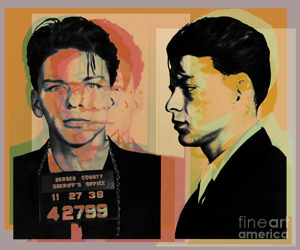 Digital Art - Frank Sinatra Mugshot Pop Art  by Jean luc Comperat