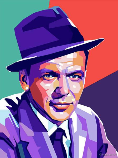 Digital Art - Frank Sinatra Pop Art by Stars on Art