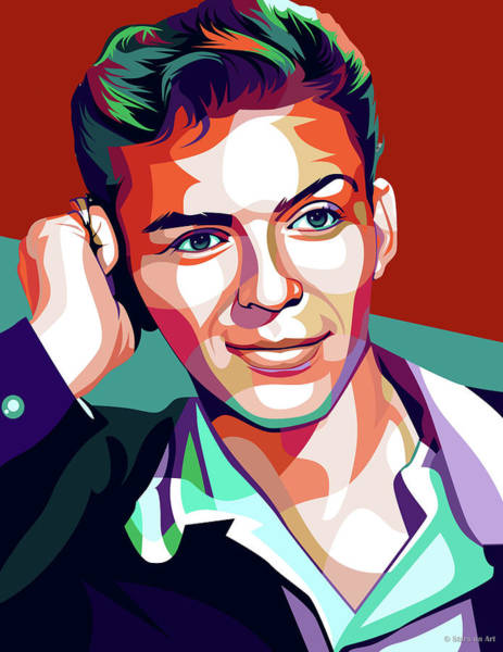 Pop Star Digital Art - Frank Sinatra by Stars-on- Art