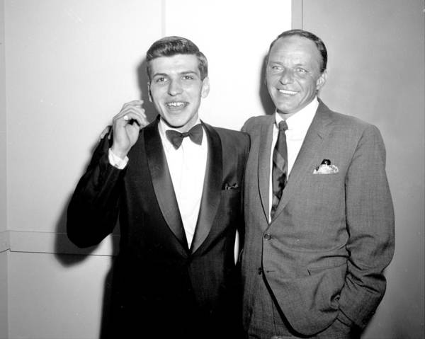 Wall Art - Photograph - Frank Sinatra With His Son Frank by New York Daily News Archive