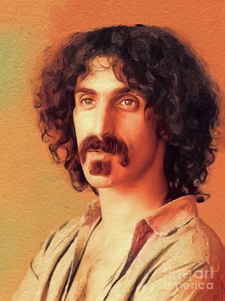 Frank Zappa Wall Art - Painting - Frank Zappa, Music Legend by John Springfield