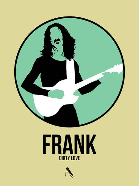 Hard Rock Wall Art - Digital Art - Frank Zappa by Naxart Studio