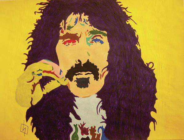 Wall Art - Painting - Frank Zappa by Stormm Bradshaw