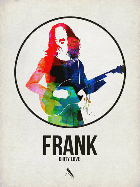 Hard Rock Wall Art - Digital Art - Frank Zappa Watercolor by Naxart Studio