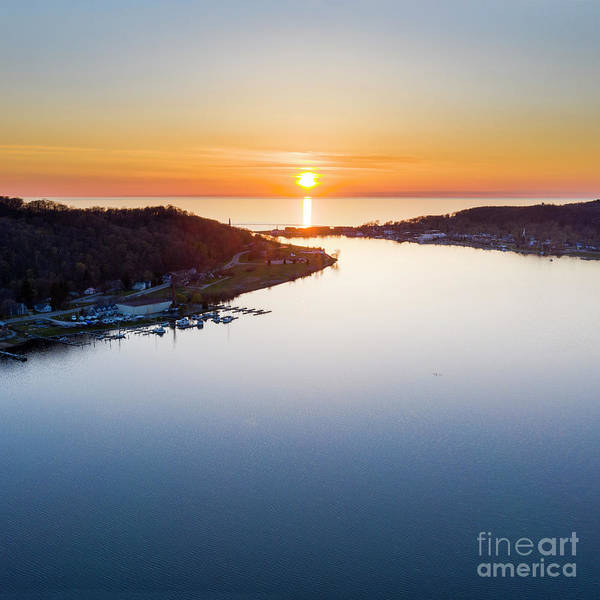 Wall Art - Photograph - Frankfort Aerial Sunset Square by Twenty Two North Photography