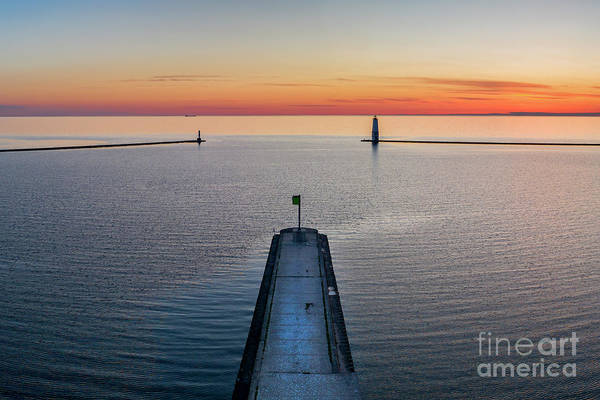 Wall Art - Photograph - Frankfort Aerial Sunset by Twenty Two North Photography