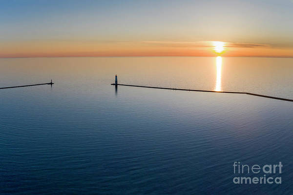Wall Art - Photograph - Frankfort Piers Sunset by Twenty Two North Photography