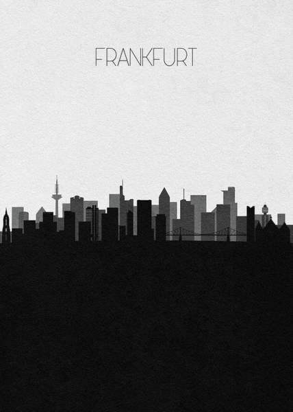 Digital Art - Frankfurt Am Main Cityscape Art by Inspirowl Design