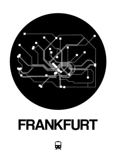 Wall Art - Digital Art - Frankfurt Black Subway Map by Naxart Studio