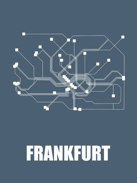 Wall Art - Digital Art - Frankfurt Subway Map by Naxart Studio