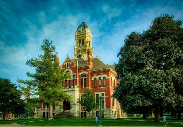 Courthouse Towers Wall Art - Photograph - Franklin County Courthouse - Hampton, Iowa by Mountain Dreams