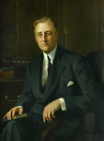 Wall Art - Painting - Franklin D. Roosevelt by Prince Pierre Troubetzkoy