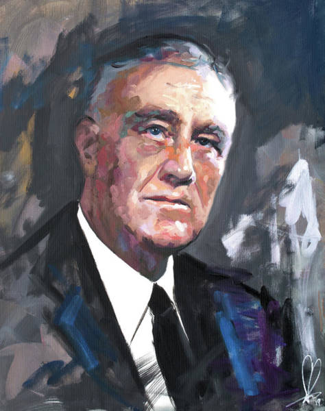 Wall Art - Painting - Franklin D Roosevelt by Richard Day