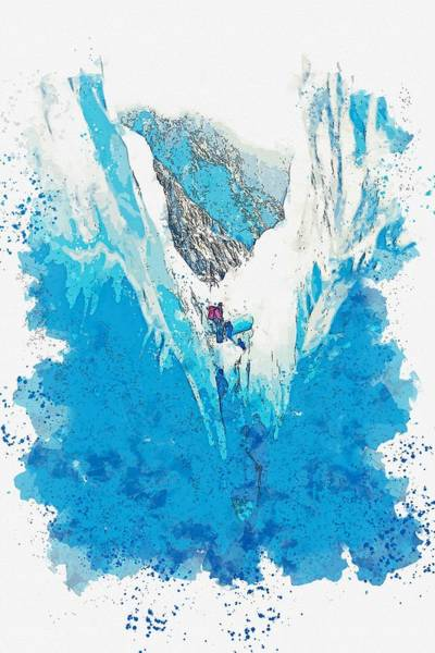 Painting - Franz Josef Glacier -  Watercolor By Adam Asar by Adam Asar