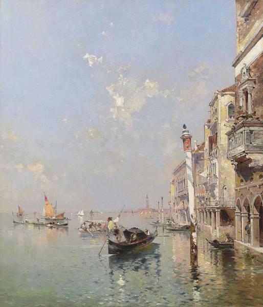 Wall Art - Painting - Franz Richard Unterberger Austrian, 1837-1902 Giudecca Canal In Venedig by Franz Richard Unterberger