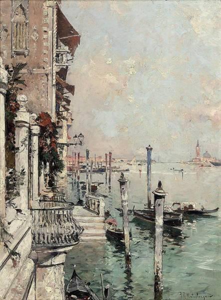 Wall Art - Painting - Franz Richard Unterberger Austrian, 1837-1902 On The Grand Canal, Venice by Franz Richard Unterberger