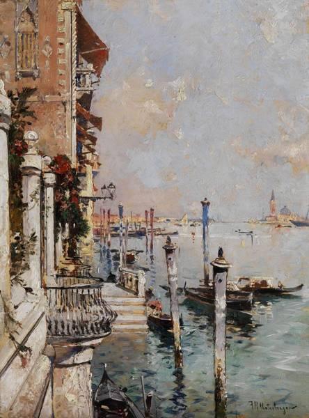 Wall Art - Painting - Franz Richard Unterberger View Over The Grand Canal by Franz Richard Unterberger