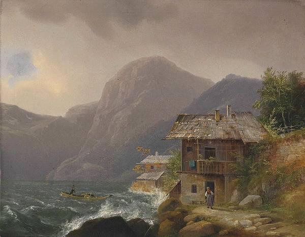 Wall Art - Painting - Franz Steinfeld, Coastal Village by Franz Steinfeld