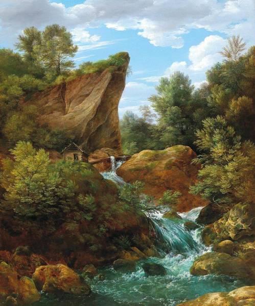 Wall Art - Painting - Franz Steinfeld Vienna 1787-1868 Pisek Wild Waters, by Franz Steinfeld
