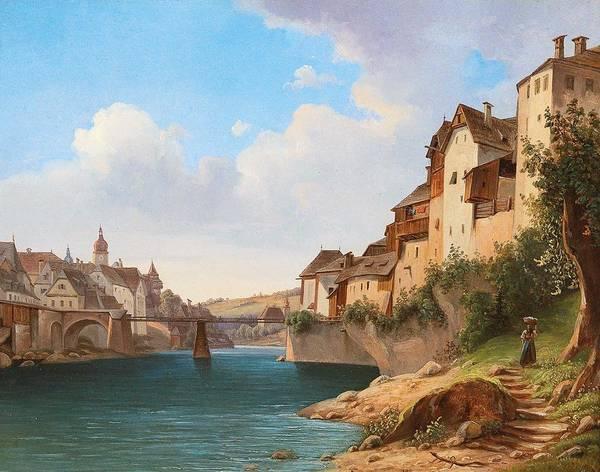 Wall Art - Painting - Franz Wipplinger Vienna C. 1805-1847 Waidhofen Ybbs View Of Waidhofen An Der Ybbs, by Franz Wipplinger