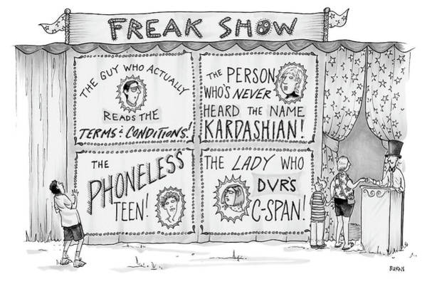 Drawing - Freak Show by Teresa Burns Parkhurst