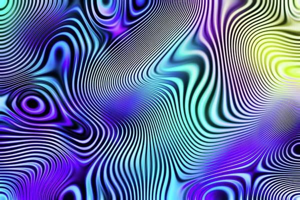 Digital Art - Freaky Purple Chaos by Don Northup
