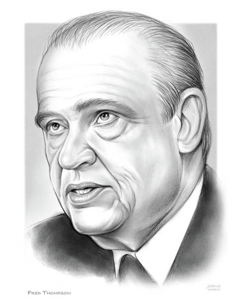 Wall Art - Drawing - Fred Thompson by Greg Joens