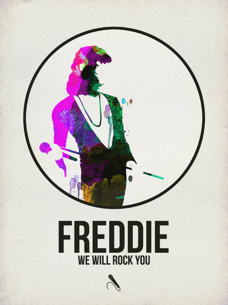 Wall Art - Digital Art - Freddie Mercury II by Naxart Studio