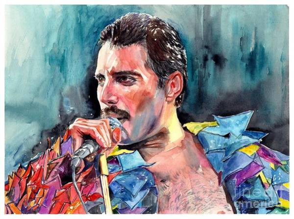 Wall Art - Painting - Freddie Mercury, New York City 1983 by Suzann Sines