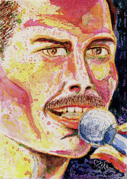 Wall Art - Painting - Freddie Mercury Portrait by Miko At The Love Art Shop