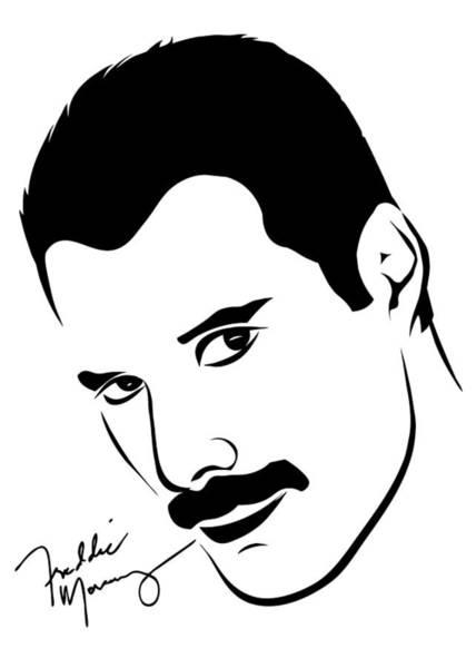 Frontman Wall Art - Photograph - Freddie Mercury Portrait by Ricky Barnard