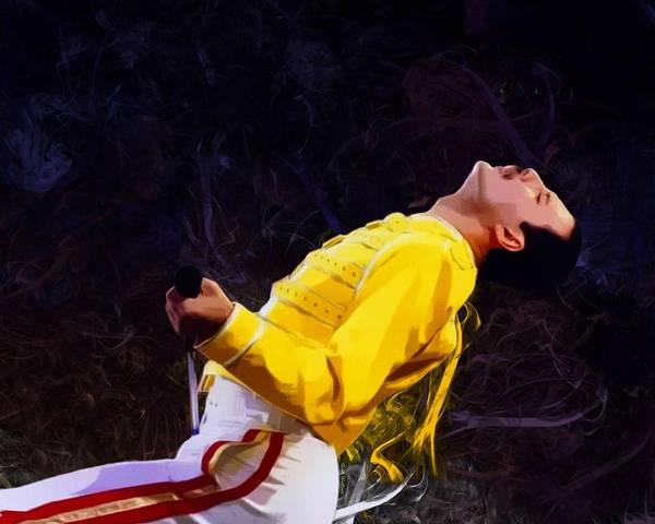 Digital Art - Freddie Mercury Portrait Version II by Scott Wallace Digital Designs