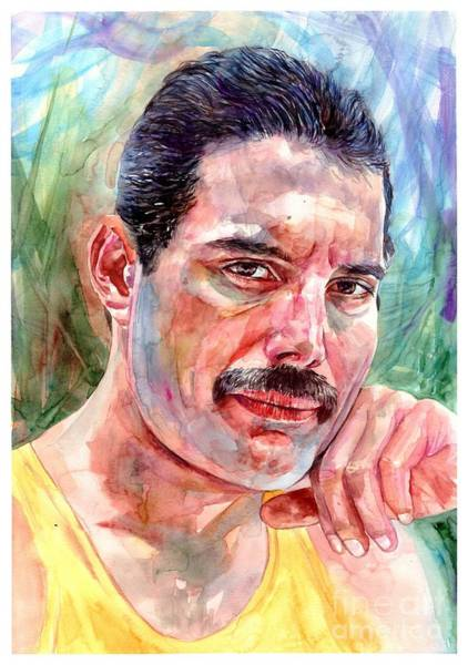 Power Painting - Freddie - The Thinker by Suzann's Art