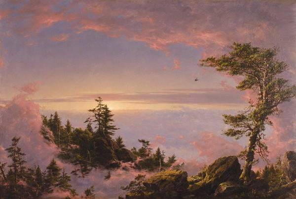 Wall Art - Painting - Frederic Edwin Church, Above The Clouds by Celestial Images