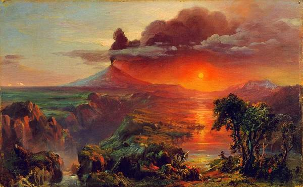 Wall Art - Painting - Frederic Edwin Church, Eruption by Celestial Images