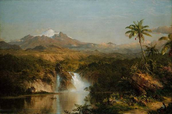 Wall Art - Painting - Frederic Edwin Church, Landscape by Celestial Images