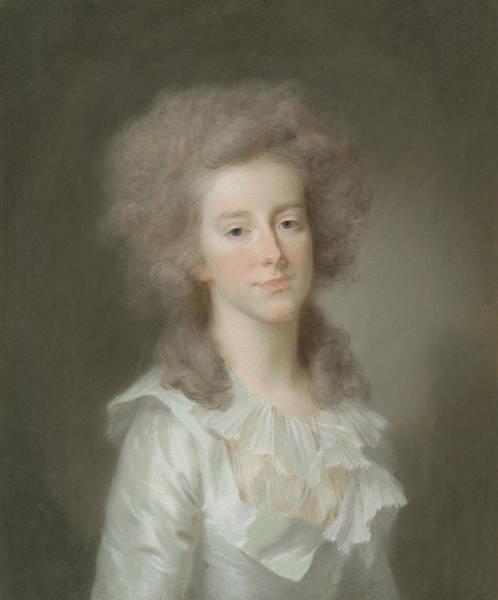Pastel - Frederica Louisa Wilhelmina by Johann Friedrich August Tischbein