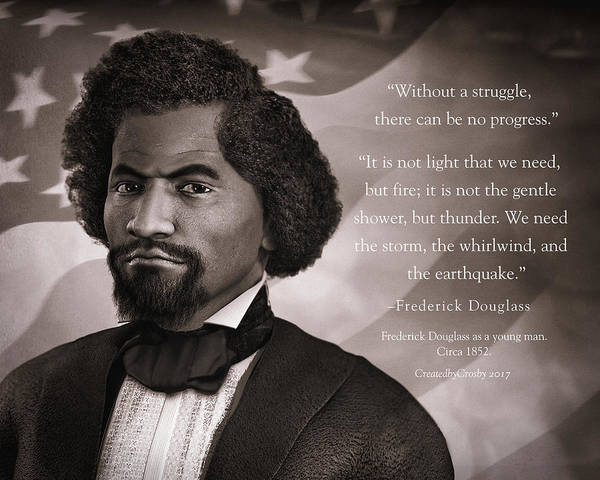 Us Civil War Digital Art - Frederick Douglass As A Young Man by Darryl Crosby