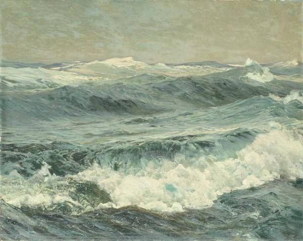 Wall Art - Painting - Frederick J. Waugh , The Roaring Forties by Frederick J  Waugh