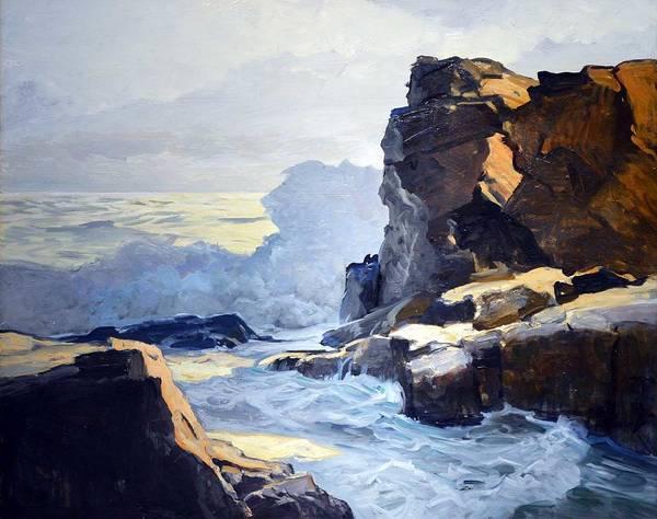 Wall Art - Painting - Frederick Judd Waugh, Rocky Coastline by Frederick Judd