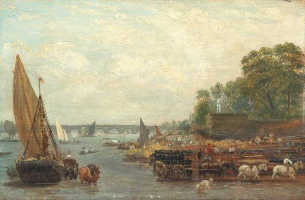 Wall Art - Painting - Frederick Nash - Westminster Bridge by Frederick Nash