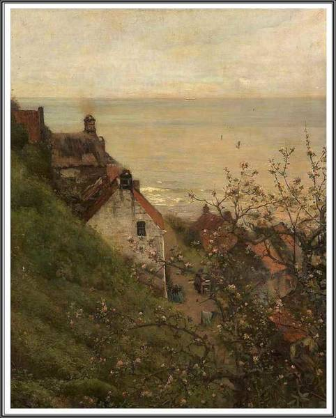 Wall Art - Painting - Frederick William Jackson  1859-1918 Robin Hood S Bay  North Yorkshire. by Frederick William Jackson
