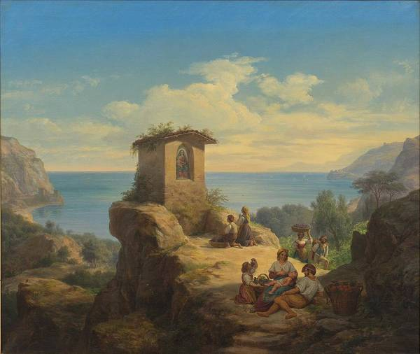 Wall Art - Painting - Frederik Ludvig Storch  1805-1883 Landscape by Frederik Ludvig Storch