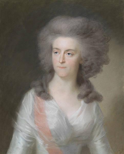 Pastel - Frederika Sophia Wilhelmina    by Johann Friedrich August Tischbein